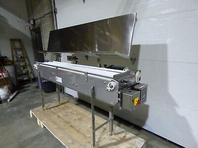 Pack Off Conveyor 12x84 Stainless Steel Variable Speed Way Nice