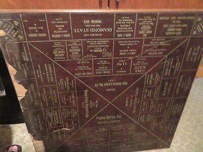 Antique Vintage Wood Folding Card Table 1930s ADVERTISING Star Bethel Lodge #19