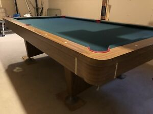 Pool table with lots of accessories