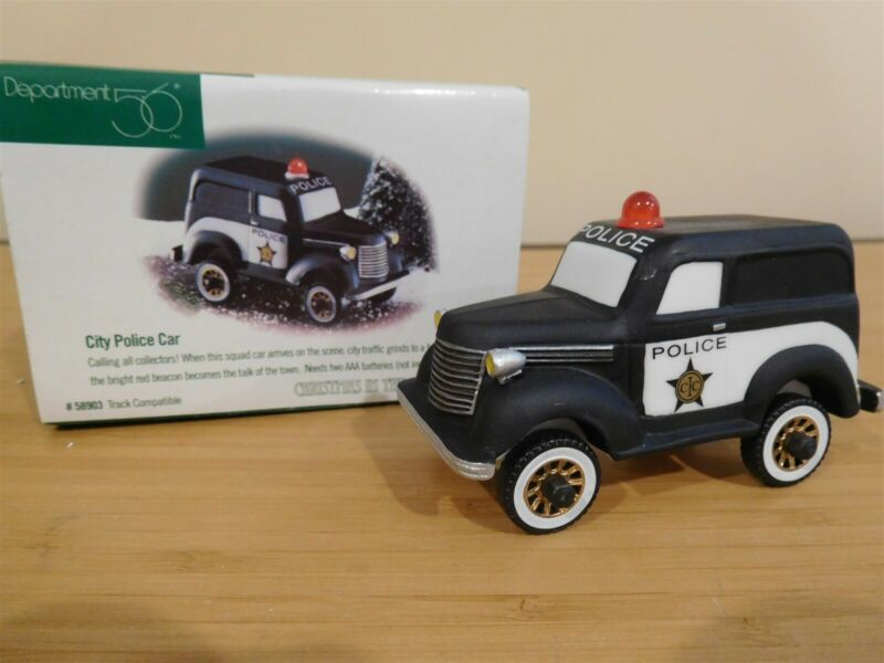 Dept 56 CIC Accessory - City Police Car - Free Shipping