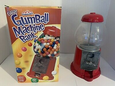 "Carousel Classic Gumball Machine Bank 12"" Die-cast Metal Glass Globe Brand New"