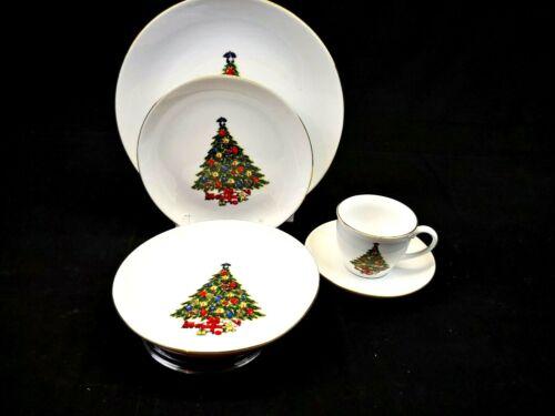 JAMESTOWN Christmas Treasure Porcelain China, 5 Piece Place Setting