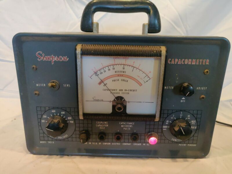 Simpson capachometer Capacitor CheckerTester, pulse tester. Leakage tester Works