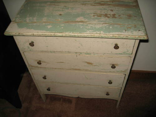 Primitive Antique Childs 4 Drawer Chest Dresser Vintage Antique
