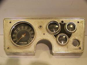 1963 PLYMOUTH VALIANT INSTRUMENT CLUSTER COMPLETE OEM SPEEDO GAS ALT TEMP GAUGES