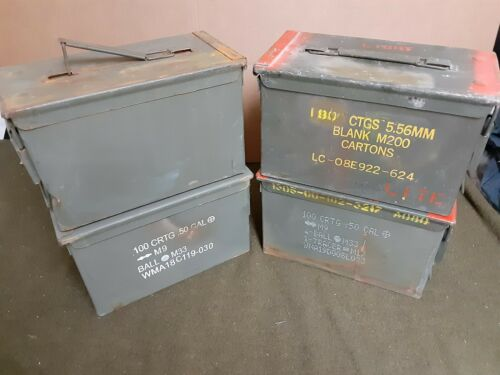 (4 PACK) SCRATCH AND DENT 50 Cal M2A1 AMMO CAN* FREE SHIPPING *