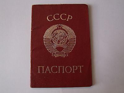 1987 Reisepass Pass Passport Ausweis UdSSR Sowjetunion Ukraine ID