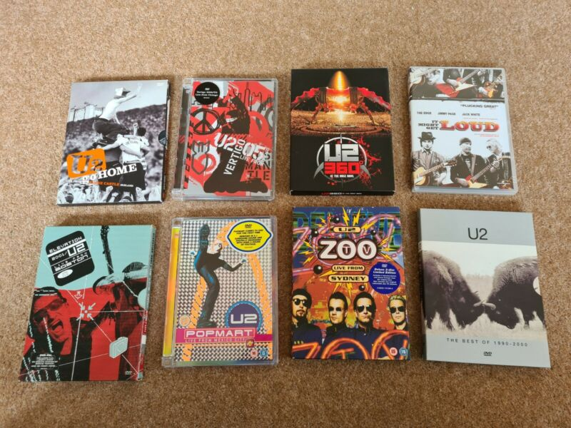 U2 DVD x8 Joblot Collectables Rare Memorabilia Live Documentry