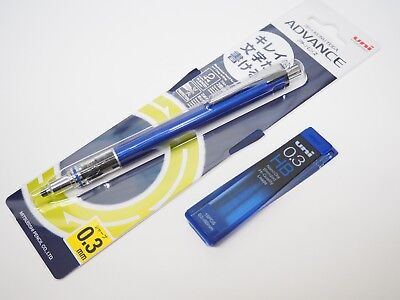 Auto Advance Mechanical Pencil - Uni-Ball Kuru Toga Advance 0.3mm Auto Lead Rotation Mechanical Pencil +Leads, NV