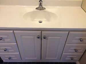 "48"" white vanity with top"