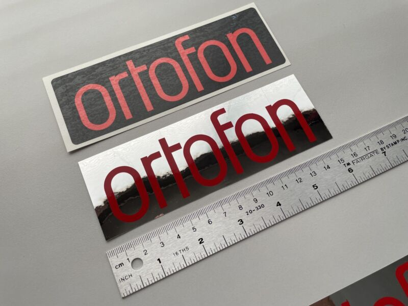 Ortofon needles and cartridges for DJ turntables stickers for car or DJ case