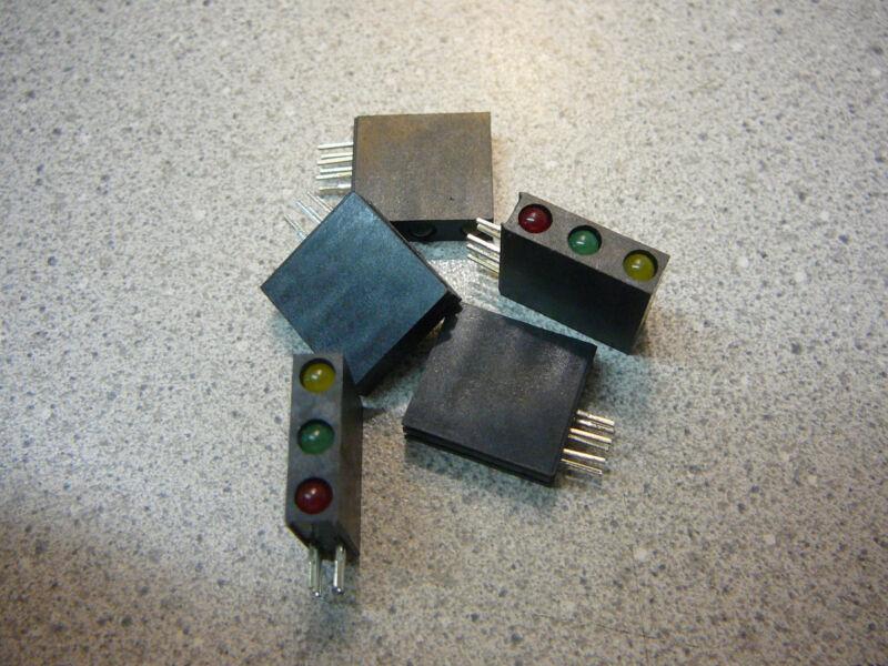 QT OPTO Tri-Level 3mm CBI (LED), Array, Yellow/Green/Red R/A  **NEW** Qty.5