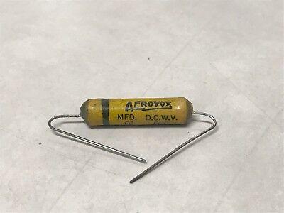 Nos 1950s Aerovox Wax Paper Tone Capacitors .01uf 600v 10nf