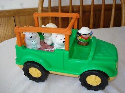 FISHER PRICE Little People Safari Adventure Zoo Animals Truck w/4 figures