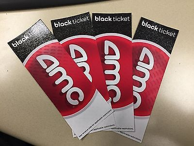 (10) AMC BLACK Movie tickets - NO Expiration - FAST SHIPPING - Accepting Offers!