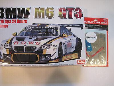NuNu 1/24 BMW M6 GT3 + Platz Detail up parts Tamiya Fujimi Le Mans