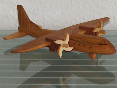 Casa Oldtimer Flugzeug Flieger Passagierflugzeug Holz HANDARBEIT