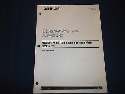 Caterpillar 953c Track Loader Machine Disassembly Manual Senr1773