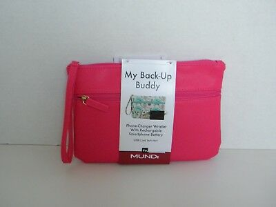 My Back-Up Buddy Phone Charger Wristlet with Rechargable Smartphone Battery Pink Buddy Phone