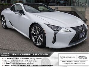 2018 Lexus LC 500 Performance PKG 1 Owner No Accident Head-Up...