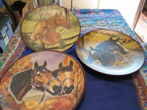 MayRich Co. Set of 3 Horse Handcrafted Decorative Plate 6""