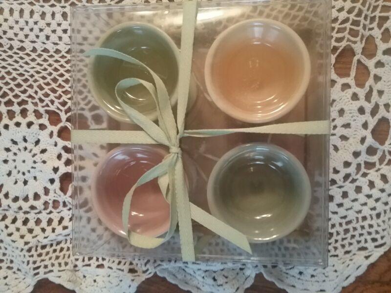 Set Of 4 Hallmark Ceramic Egg Cups/Coquetiers New.