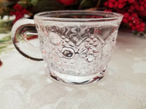 14 Pc. Punch Cups Daisy and Button Clear (Punch Set) by L. E. Smith Glass