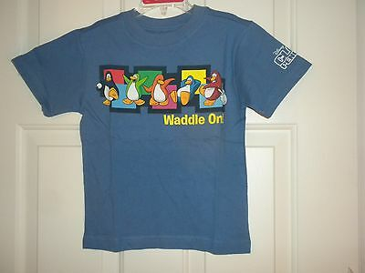 Boys Girls  XXS  2T 3T or XS 4 Short Sleeve Tee T-shirt Club Penguin Waddle On