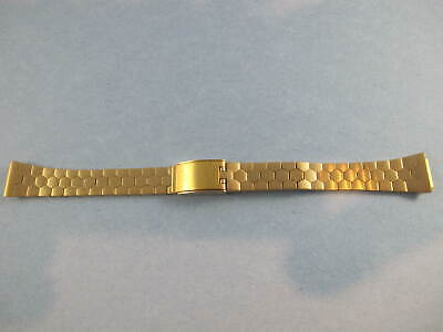 BULOVA ACCUTRON LADIES VINTAGE NOS GOLD PLATED WATCH BAND 10MM