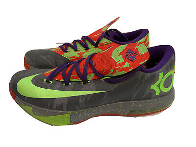 Nike KD VI 6 Energy Electric Green-Bright Crimson-Cool Grey Size 8.5 599424-008