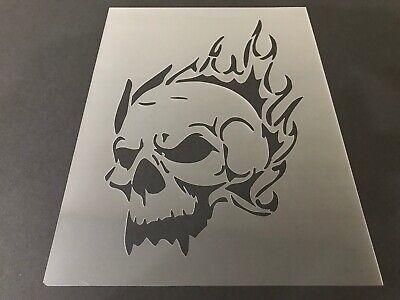 Halloween Airbrush (Skull #9 Stencil 10mm or 7mm Thick, Crafts, Skulls, Tattoo, Airbrush,)