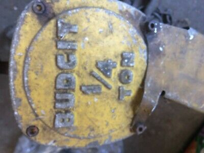 Vintage 14 Ton Budgit Chain Hoist Maxwell Moore Inc