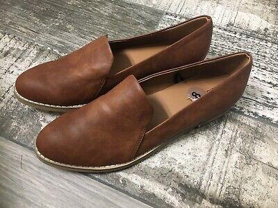 Indigo Rd Irhani Womens Medium Brown Slip On Loafers Flats Size 8M