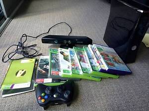 Xbox 360 250GB with kinect, 8 games, and two wireless gamepads Westmead Parramatta Area Preview