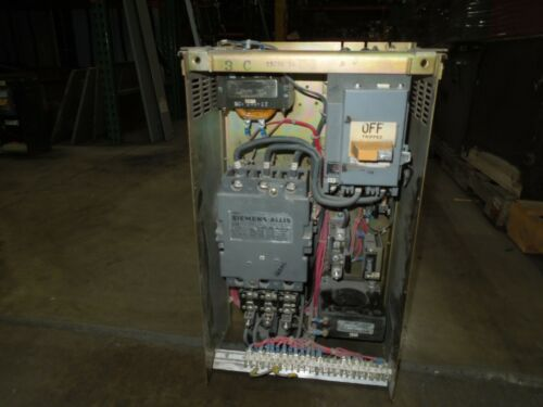 "Siemens Allis Marq 21 Size 3 FVNR Starter MCC Bucket 100A 3P Breaker 24""T"