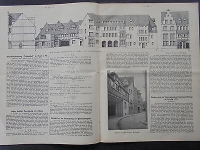 1913 Baugewerkszeitung 55 / Neuß Jesuitenhof