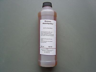 GP 60 € per Liter  Benzoe Abziehpolitur 500 ml (für alte und neue Schellacke)