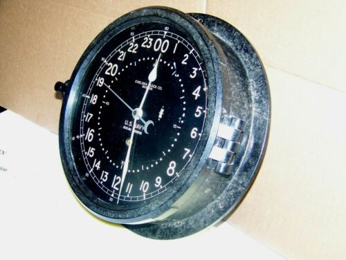 Chelsea U.S. Navy 24HR Ships Clock `Price Reduced