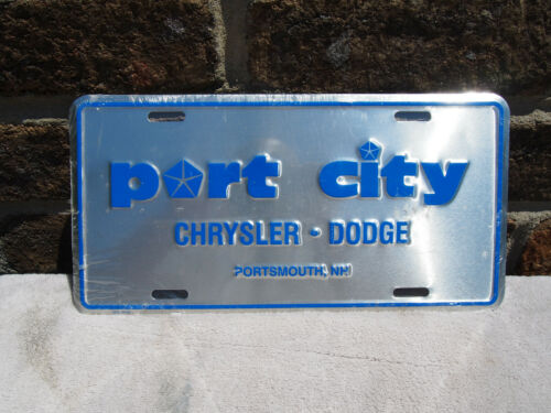 VINTAGE PORT CITY CHRYSLER DODGE PORTSMOUTH NEW HAMPSHIRE DEALER LICENSE PLATE