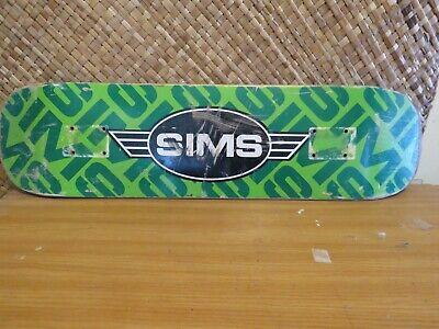 SIMS logo team skateboard deck used 7. 75 x 30.5  OG Dogtown Era Jay Adams Logan
