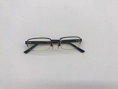 Vintage Black Gucci Rectangle Frames Prescription Glasses Half Rim 140 GG1881