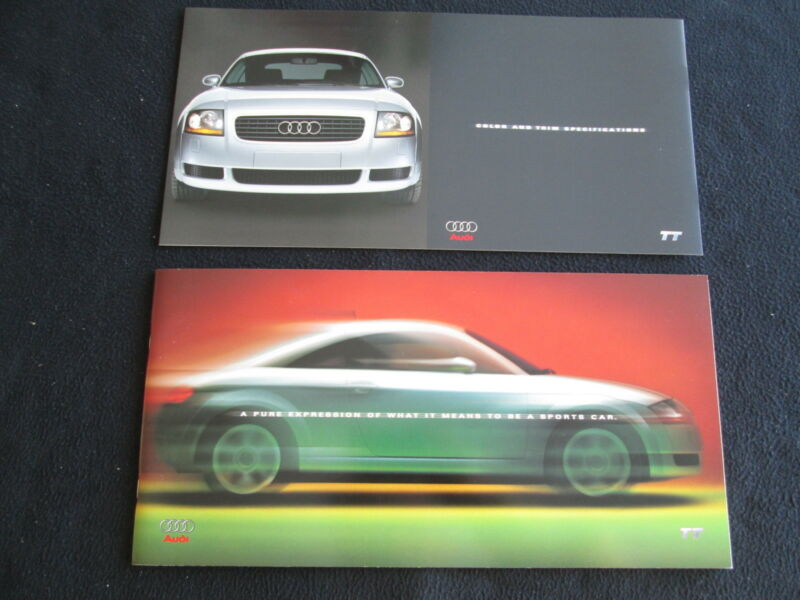 2000 Audi TT Coupe Catalog Huge Size US Sales Brochure w/ separate Color Chart