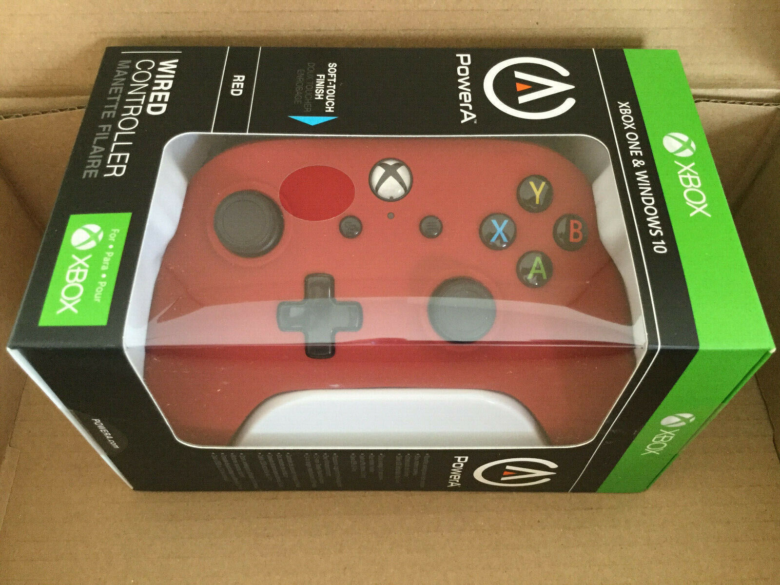 PowerA Wired Controller for Xbox One & Windows 10 Red Brand NEW ,Factory Sealed
