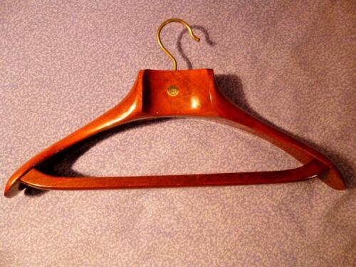 "Vtg Fratelli Reguitti Wooden Coat Hanger ""FR"" Deluxe Hand-Craft Made in Italy"