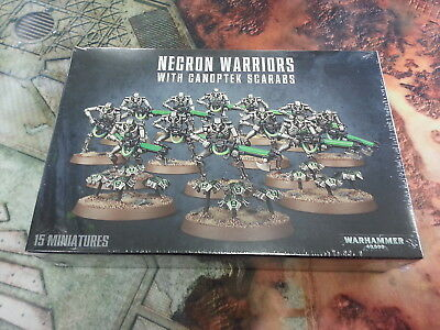WARHAMMER 40K NECRON WARRIORS WITH CANOPTEK SCARABS - NEW AND SEALED