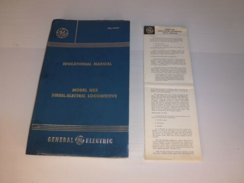 1969 GE Model U33 Diesel Electric Locomotive Educational Manual, Railroad, Train