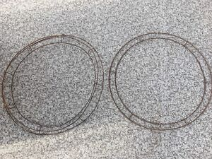 """***DIY, 2 - 24""""; Wreath Wire Skeletons; Both for $10.00***"""