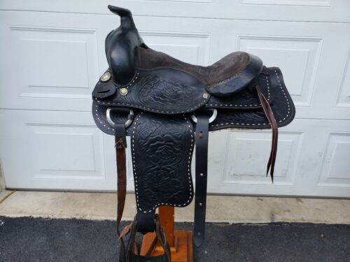 ALL LEATHER MEXICAN WESTERN SADDLE BLACK