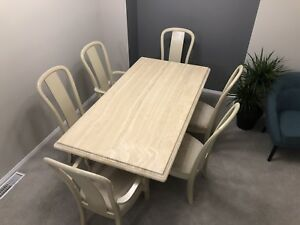 7 pcs Dining set (Marble table and 6 Chairs)