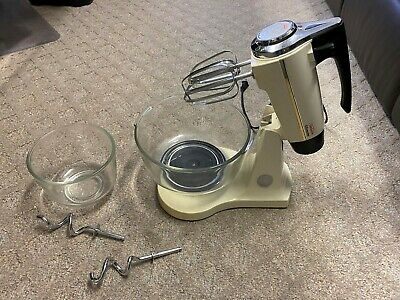 Vintage Sunbeam Mixmaster 12 Speed Stand Mixer With All Accessories Works! -